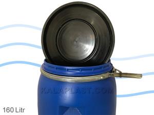 بشکه پلاستیکی 160 لیتری ضخیم با کمربند فلزی جهان