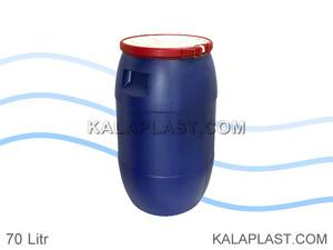 بشکه پلاستیکی 70 لیتری افق با کمربند پلاستیکی