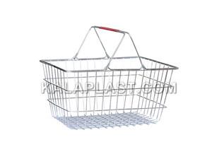 سبد خرید دسته دار فلزی فروشگاهی با دو دسته