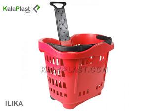 سبد خرید چرخدار فروشگاهی تمام پلاستیکی ایلیکا
