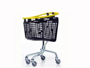 سبد خرید چرخدار فروشگاهی پلی پروپیلنی 100 لیتری لوپ اسپانیایی
