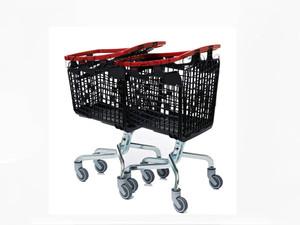 سبد خرید  چرخدار فروشگاهی پلی پروپیلنی 100 لیتری لوپ فرانسوی