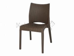 صندلی بدون دسته حصیری پلاستیکی بامبو