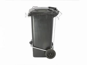 سطل زباله پلاستیکی 120 لیتری چرخدار و پدالدار سبلان