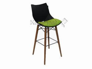 صندلی کانتر شل با پایه چوبی