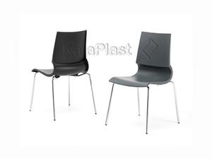 صندلی بدون دسته رونی با پایه کروم