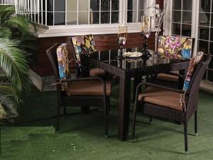 ست میز و صندلی 4 نفره دستبافت مدل 102