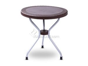 میز 2 نفره گرد حصیری پایه فلزی کد 422