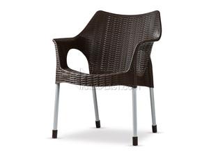 صندلی دسته دار حصیری لاکچری با پایه فلزی کد 991