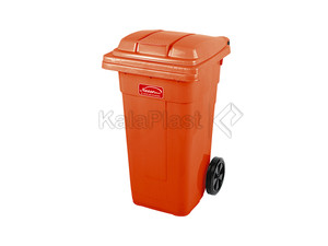 سطل زباله پلاستیکی 100 لیتری چرخدار ناصر کد 5100