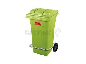 سطل زباله پلاستیکی 100 لیتری چرخدار و پدالدار ناصر کد 5105