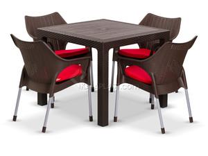 ست میز و صندلی چهار نفره موناکو 991323