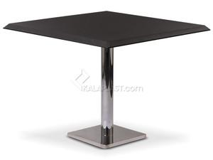 میز 4 نفره مربع صفحه PVC با پایه مربع چدنی استیل کد S492