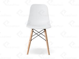 صندلی فایبر گلاس بدون دسته با پایه چوبی ایمیز