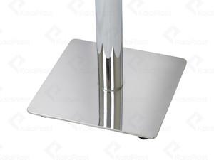 میز 4 نفره دایره با صفحه PVC و پایه گرد چدنی استیل کد O491