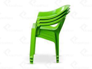 صندلی دسته دار پلاستیکی طرح نرده ای کد 868