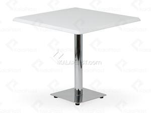 میز 4 نفره مربع صفحه PVC با پایه مربع چدنی استیل کد G492