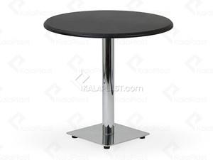 میز 4 نفره گرد صفحه PVC با پایه استیل کد O491