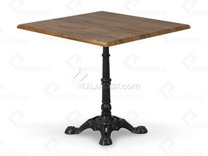 میز 4 نفره صفحه PVC با پایه بعلاوه چدنی استیل کد P492