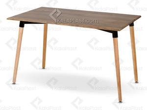 میز 6 نفره مروارید با پایه چوبی کد107