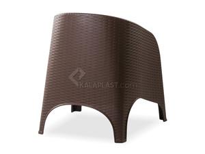 صندلی مبلی حصیری پلاستیکی با تشک آروبا