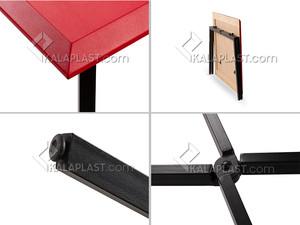میز پایه تاشو فست با صفحه ام.دی.اف ضخامت 25 میلیمتر