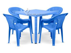 ست میز و صندلی 4 نفره پلاستیکی کد 868823