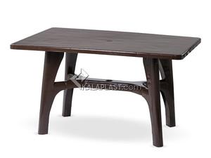 میز 6 نفره مستطیل پلاستیکی با پایه متصل کد 208