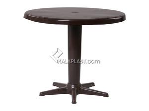 میز 4 نفره گرد تک پایه با قطر 85 سانت کد 203