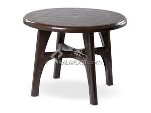 میز 4 نفره گرد پلاستیکی با پایه های متصل کد 204