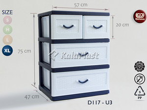 فایل پلاستیکی بزرگ با کشو های پهن دل آسا D117-U