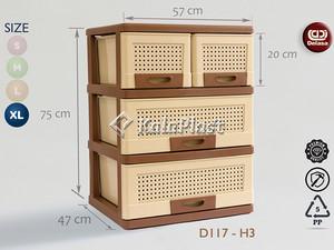 فایل بزرگ قهوه ای با کشوهای پهن دل آسا D117-H