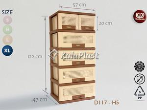 فایل 5 طبقه بزرگ با کشو های پهن دل آسا D117-U5