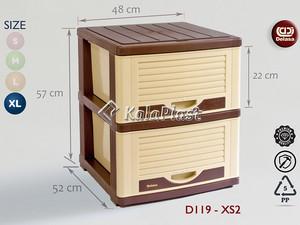 فایل پهن بزرگ با کشوهای عمیق طرح کرکره دل آسا D119-XS
