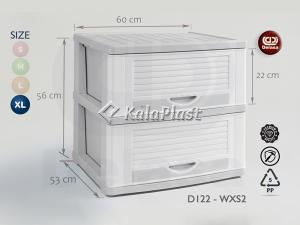فایل پلاستیکی بزرگ طوسی روشن دل آسا D122_wx s3