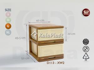 فایل پلاستیکی بزرگ صورتی دل آسا D113-XW