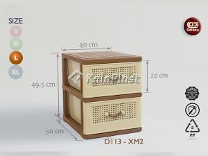 فایل قهوه ای بزرگ طرح حصیرباف دل آسا D113-XM