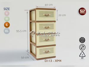 فایل 3طبقه بزرگ طرح حصیرباف دل آسا D113-XM3