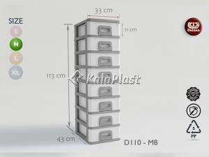 فایل متوسط با کشوهای باریک دل آسا D110-M6