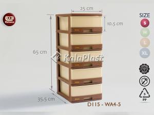 فایل کوچک طرح چوب دل آسا D115-WA4-4