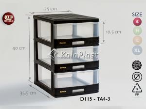 فایل کوچک شفاف دل آسا D115-TA4-2