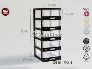 فایل کوچک شفاف دل آسا D115-TA4-4