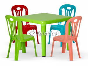 ست میز و صندلی کودک 4 نفره کد S143