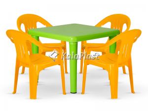 ست میز و صندلی کودک 4 نفره کد S142