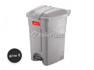 پک 4 عددی سطل پدالدار 60 لیتری با پدال پلاستیکی کد 4800