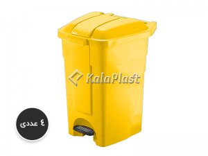 سطل پدالدار 60 لیتری با پدال پلاستیکی کد 4800