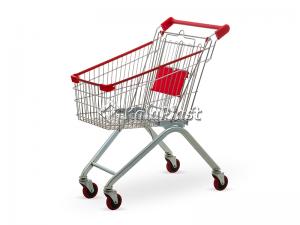 سبد خرید چرخدار فروشگاهی فلزی سایز 80 لیتری