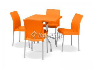 ست میز وصندلی 4 نفره پایه آلومینیومی  پگاه