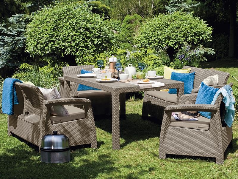 میز 6 نفره مروارید با پایه چوبی