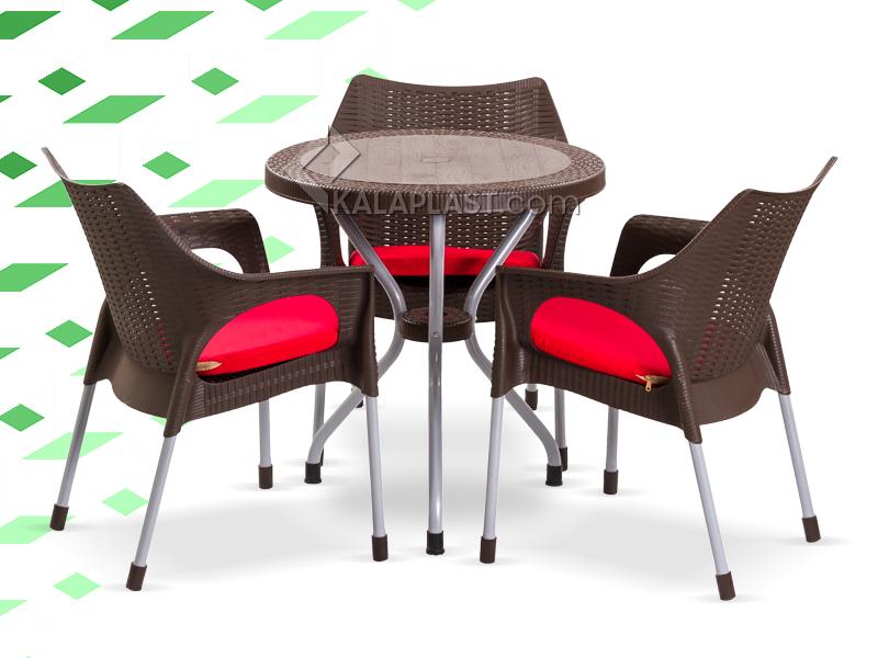ست میز و صندلی 4 نفره ژینا
